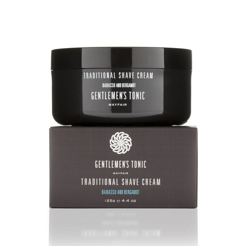 Gentlemen's Tonic Babassu & Bergamot Traditional Shave Cream - Gifting Ideas