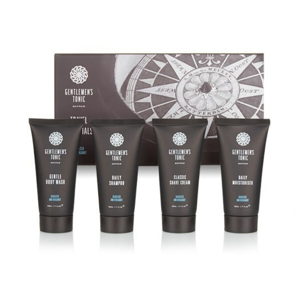 Gentlemen's Tonic Babassu & Bergamot Travel Essential Kit - Gifting Ideas