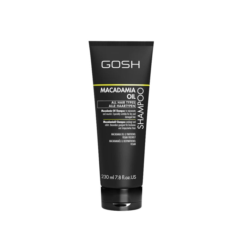 Gosh Macadamia Shampoo - 230ml - Bath and Body