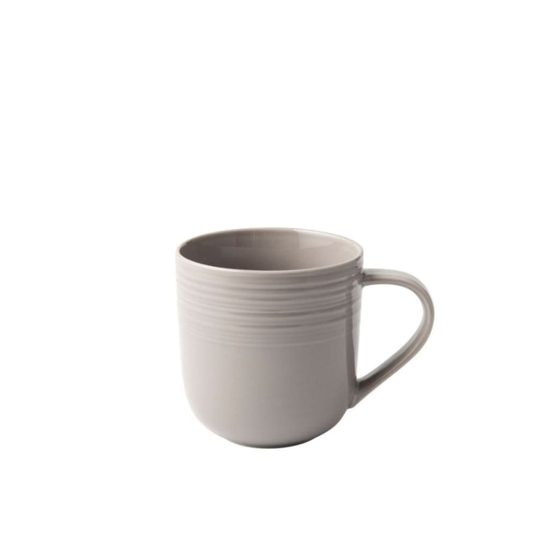 JENNA CLIFFORD - Embossed Lines - Coffee Mug Cream White - Jenna Clifford