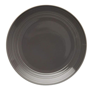 JENNA CLIFFORD - Embossed Lines - Dinner Plate Dark Grey - Jenna Clifford