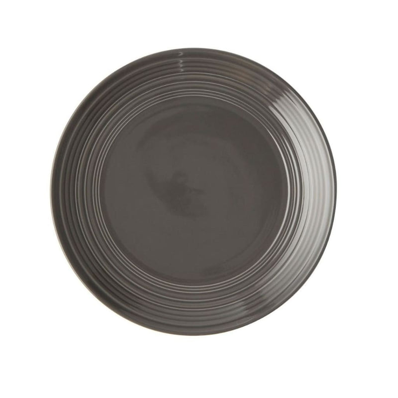 JENNA CLIFFORD - Embossed Lines - Side Plate Dark Grey - Jenna Clifford