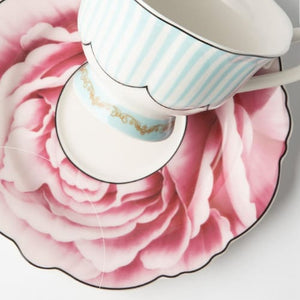 JENNA CLIFFORD - Wavy Rose Cup & Saucer in Gift Box - Jenna Clifford Design