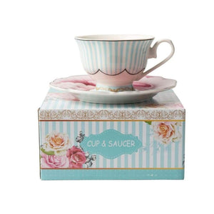 JENNA CLIFFORD - Wavy Rose Cup & Saucer in Gift Box - Jenna Clifford