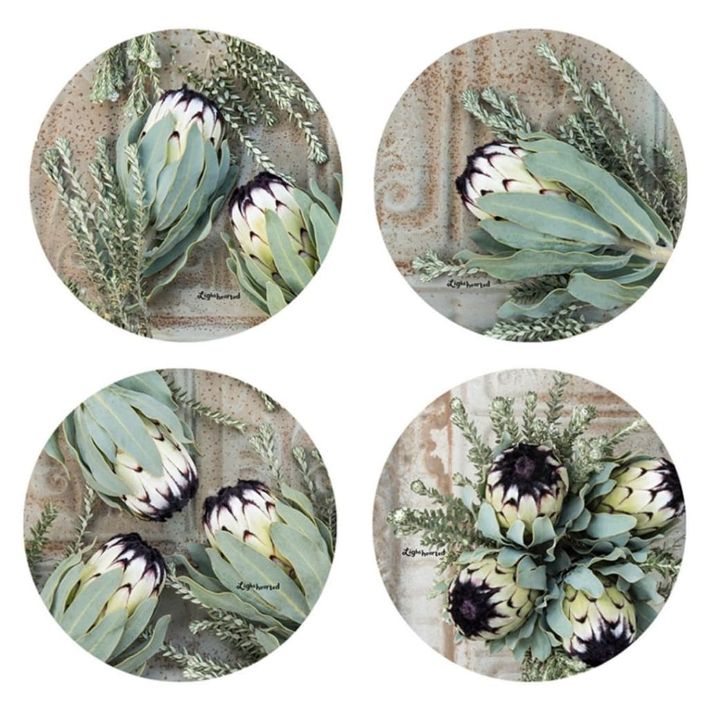 Lighthearted Coaster Set - Rustic Sage - Gifting Ideas