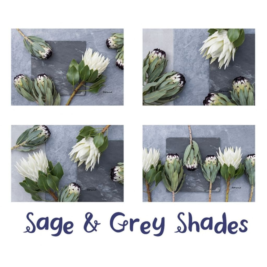 Lighthearted Placemat Set - Sage & Grey - Gifting Ideas
