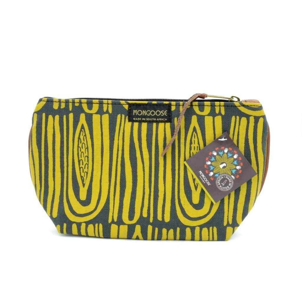 Make-up Bag Seed Mustard/charcoal - Accessories