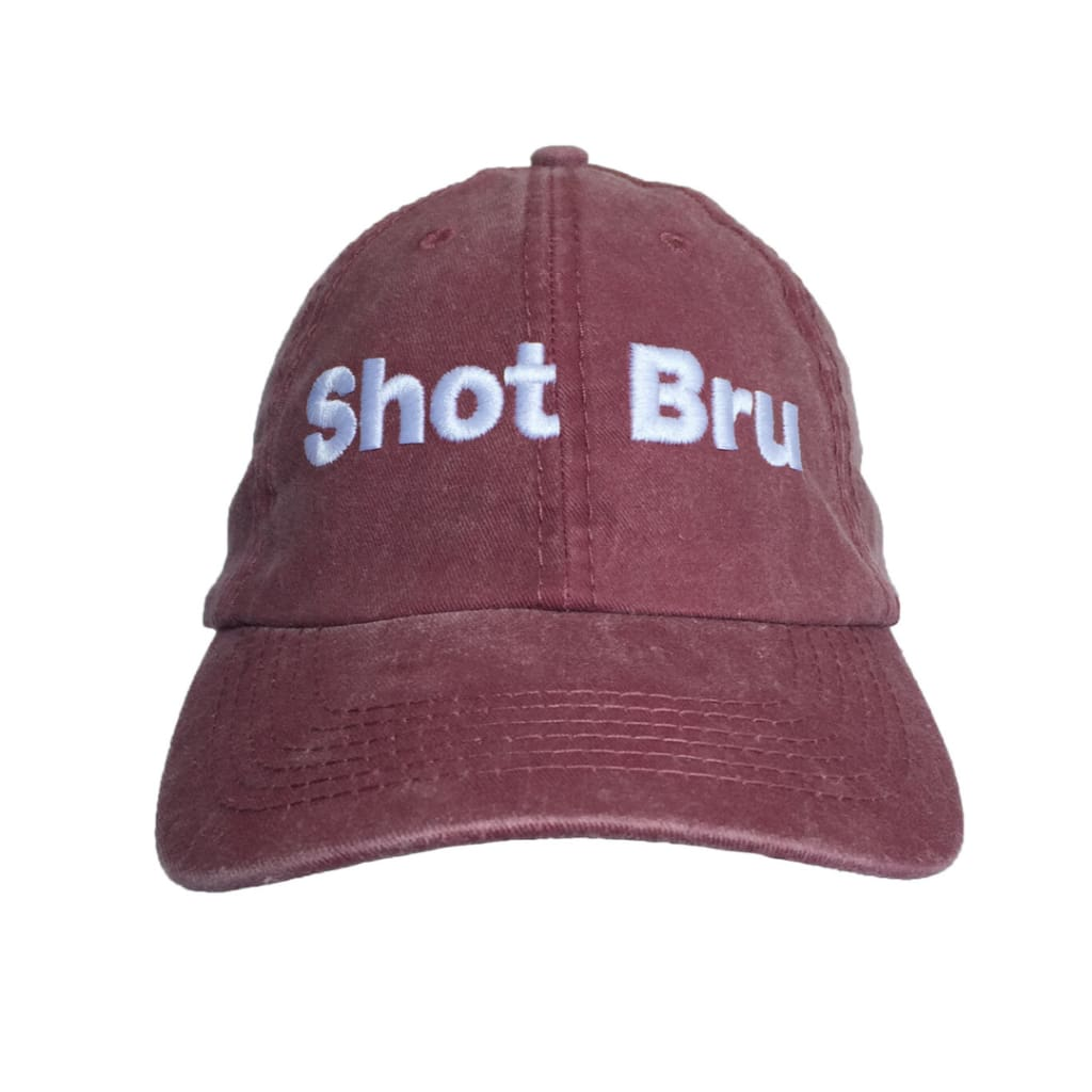 MAYBRU - Shot Bru washed Cap Burgundy - Adjustable - Gifting Ideas