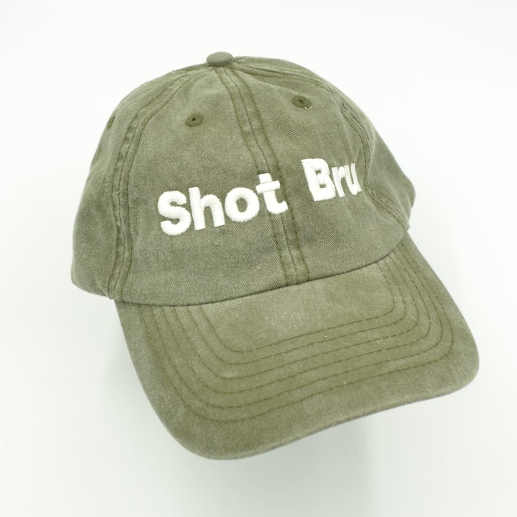 MAYBRU - Shot Bru washed Cap Olive Green - Adjustable - Gifting Ideas