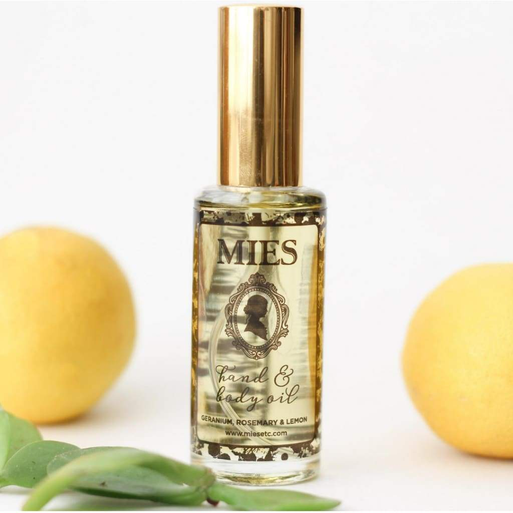 Mies Hand & Body Oil - Geranium Rosemary Lemon - Bath and Body