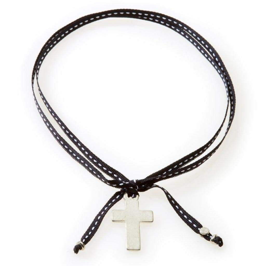 NO MEMO Feisty Ribbon Necklace & Choker Cross - Black - Accessories