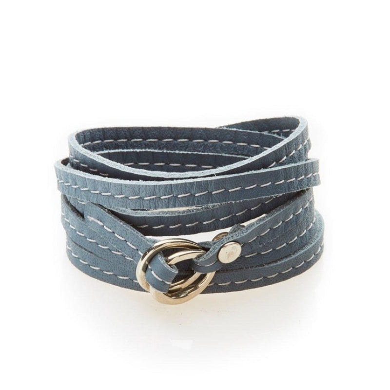 NO MEMO Rebel Versatile Leather Wrap - Dark Grey - Accessories