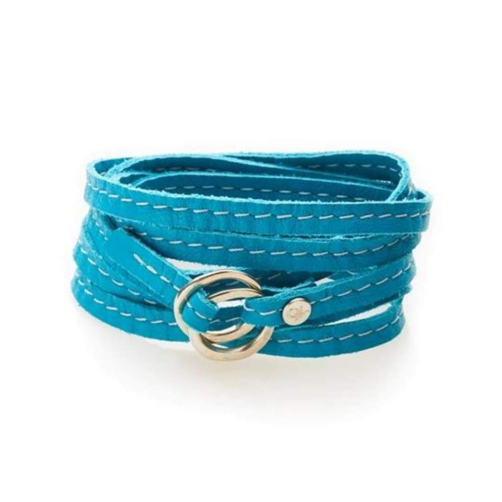 NO MEMO Rebel Versatile Leather Wrap - Turquoise - Accessories