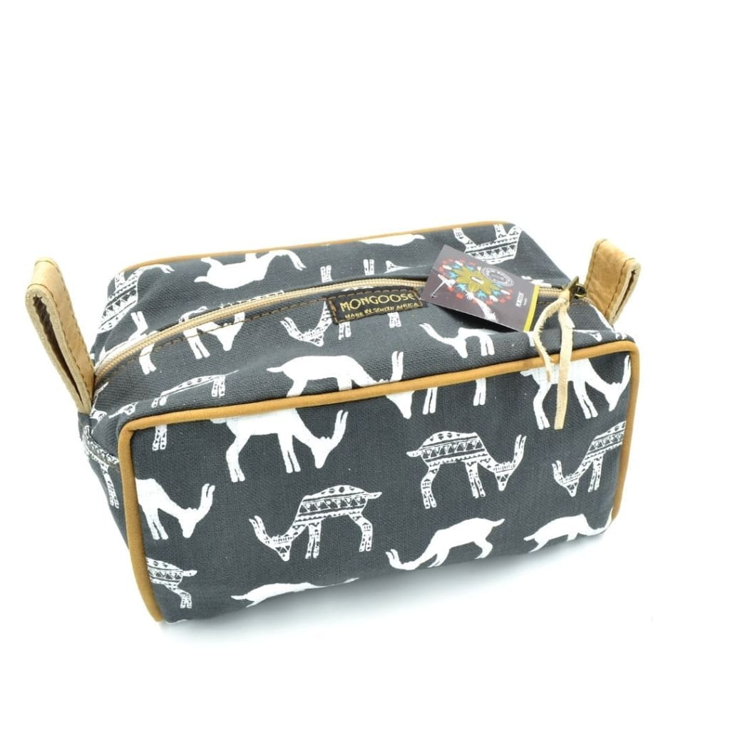 Toiletry Bag - Bokkie Cream/Charcoal - Accessories