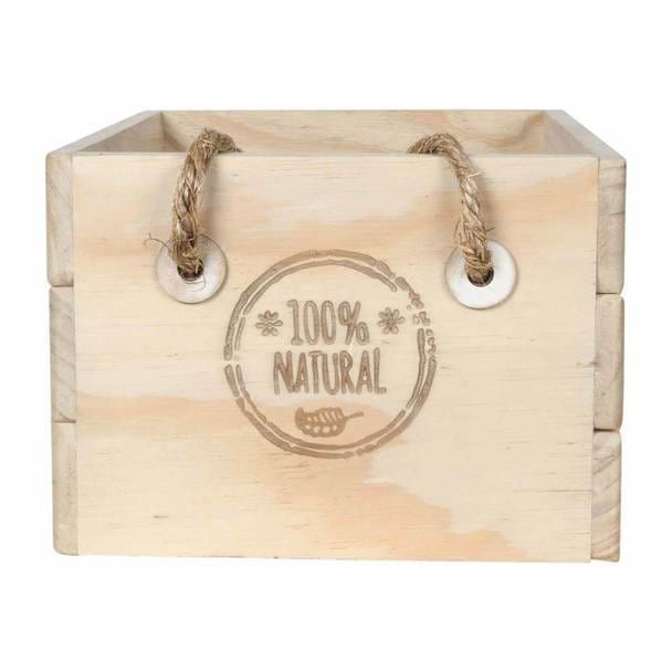 Wooden Crate 100% Natural - Gifting Ideas