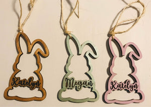 Personalized Easter Basket Bunny Tags - Personalize It Etc