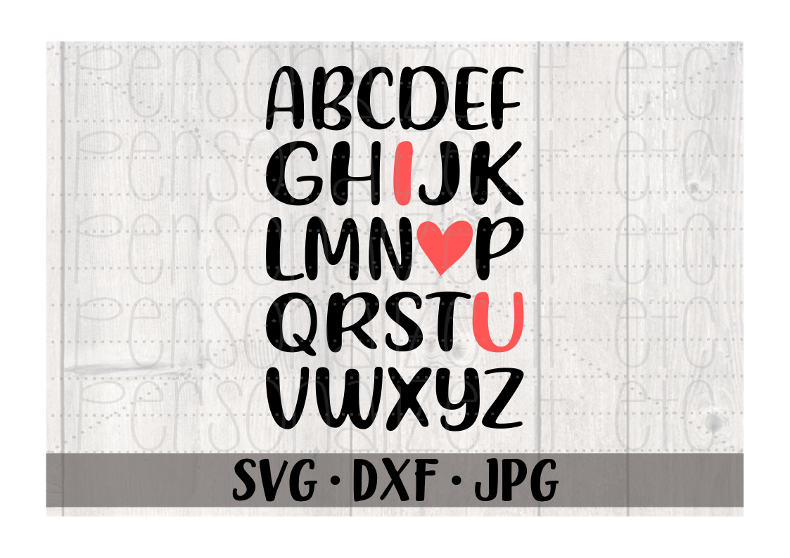 I Love You Alphabet - Personalize It Etc
