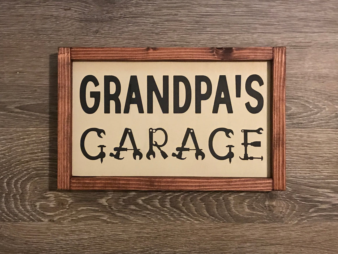 Father's Day Wood Sign | Framed Wood Sign for Father's Day Gift | Grandpa gift