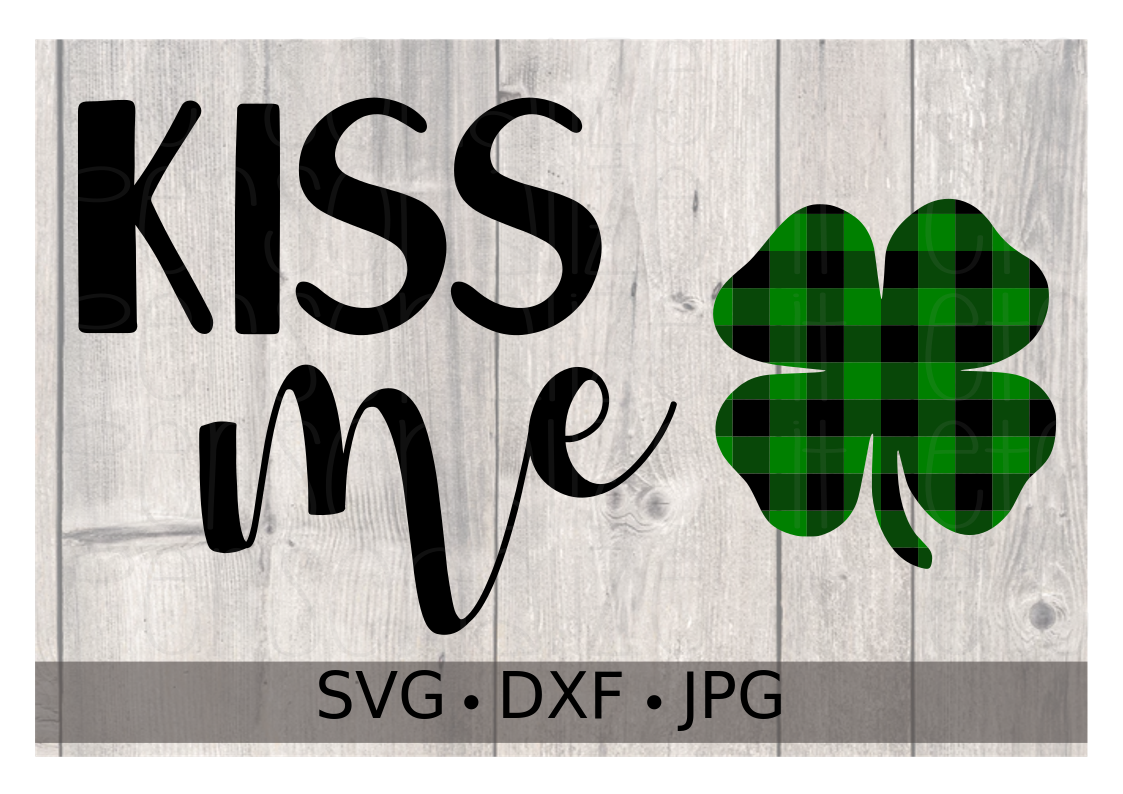 St. Patty's Day Kiss Me Buffalo Plaid - Personalize It Etc