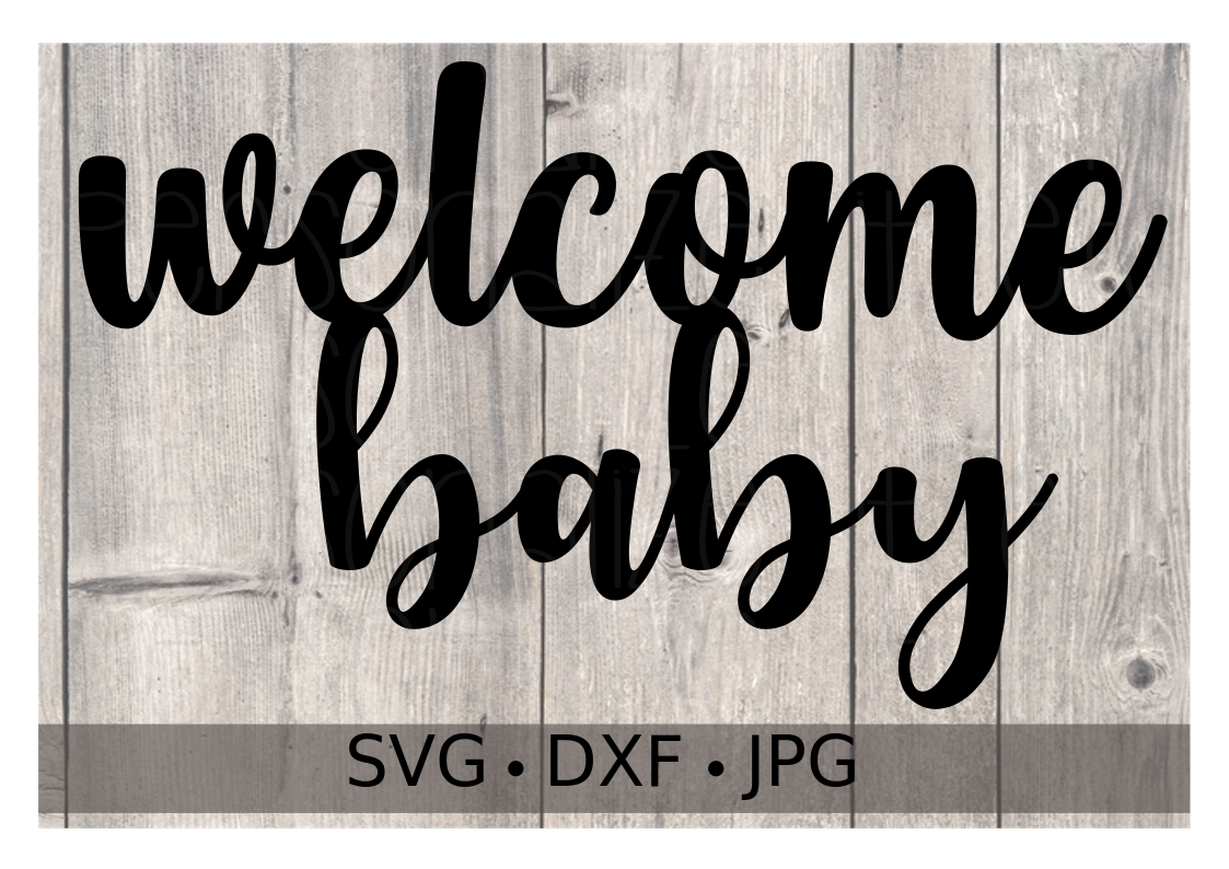 Welcome Baby Cake Topper - Personalize It Etc