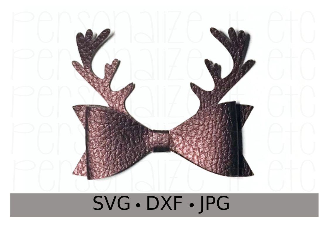 Antler Bow Template - Personalize It Etc