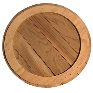 Unstained Round Cedar Wood Blank - Personalize It Etc