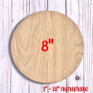 "5 PACK 8"" Unfinished Wood Round Circles"
