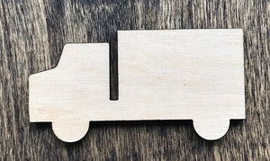 Box Truck - Unfinished Wood Blank | Unpainted