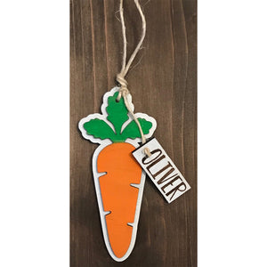 Personalized Easter Basket Carrot Tags - Personalize It Etc