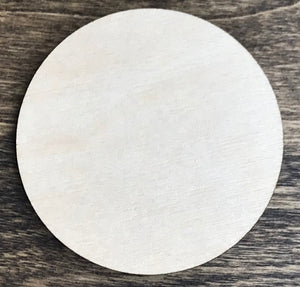 Circle - Unfinished Wood Blank | Unpainted