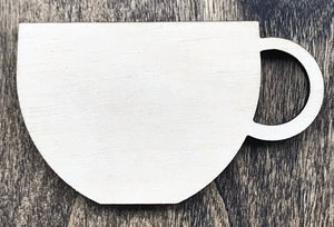 Coffee Cup- Unfinished Wood Blank | Unpainted