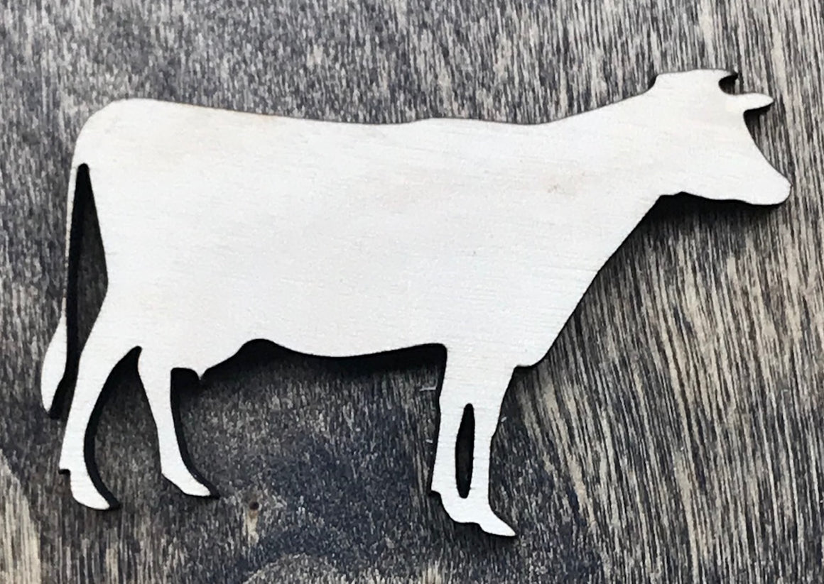 Cow - Unfinished Wood Blank | Unpainted