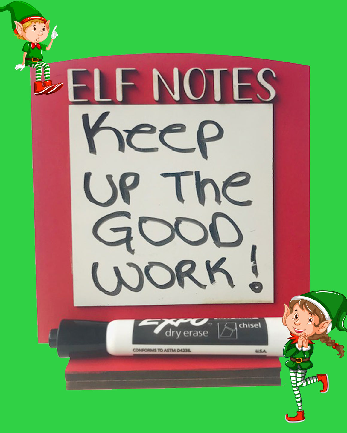 Elf Notes Dry Erase Board