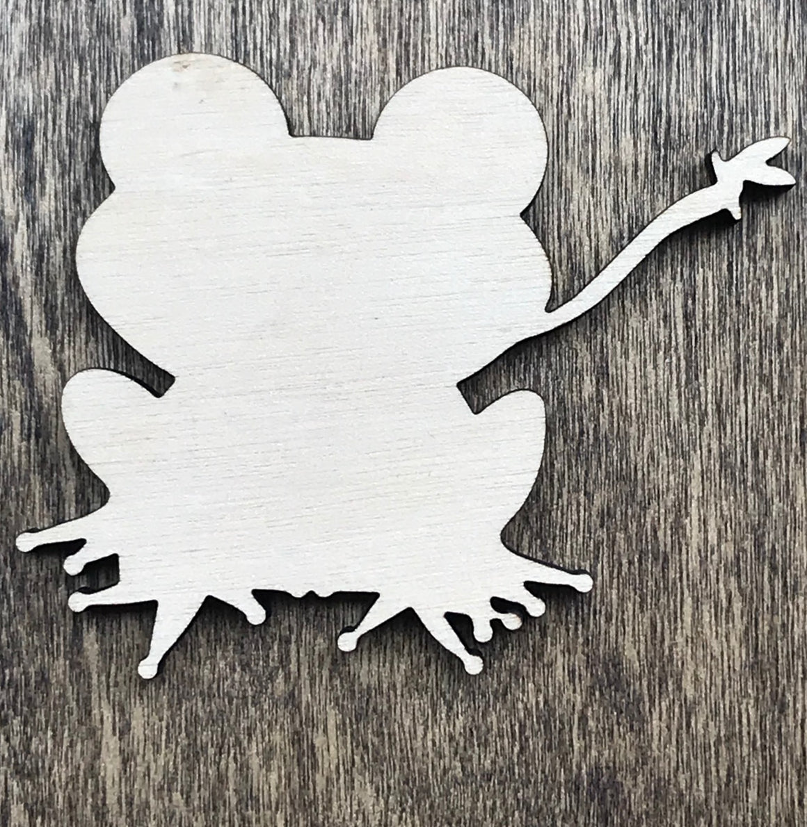 Frog Catching a Fly - Unfinished Wood Blank