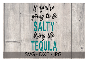 If you're going to be SALTY bring the TEQUILA - Personalize It Etc