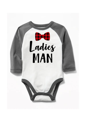 Ladies Man Buffalo Plaid Bow Tie - Personalize It Etc