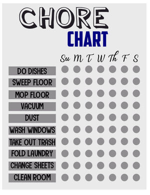 Printable Chore Chart - Personalize It Etc