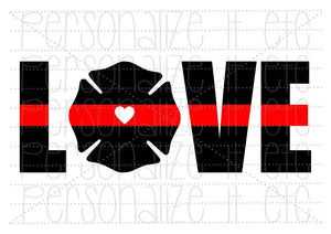 Red Line Love - Personalize It Etc