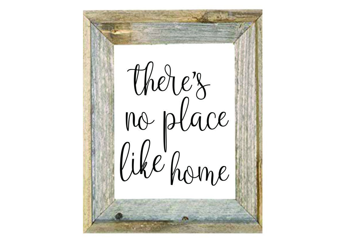 There's No Place Like Home Printable - Personalize It Etc