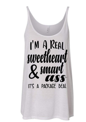 I'm a Real Sweetheart & Smart Ass - Personalize It Etc