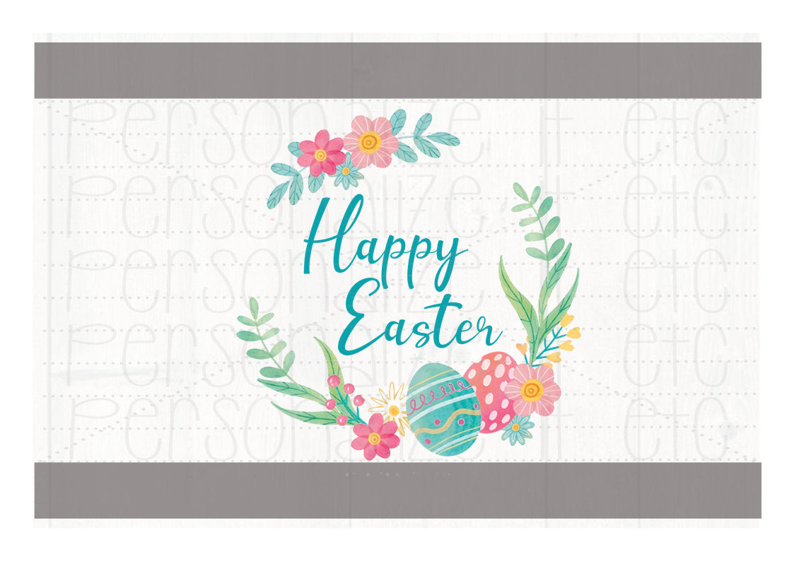 Happy Easter Wreath Watercolor - Personalize It Etc