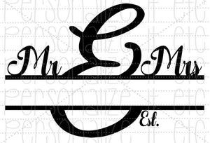 Mr & Mrs Monogram - Personalize It Etc