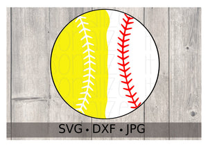 Baseball Softball Split - Personalize It Etc