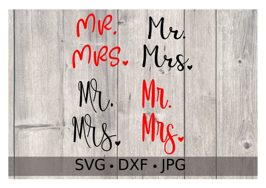 Mr and Mrs - Personalize It Etc
