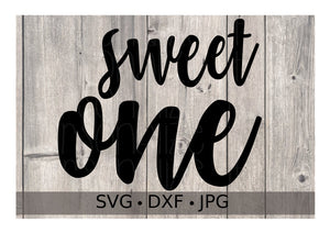 Sweet One (1st Birthday Girl) - Personalize It Etc