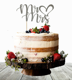 Mr Mrs Cake Topper - Personalize It Etc
