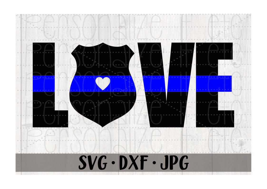 Blue Line Love - Personalize It Etc