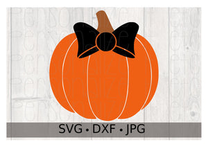 Halloween Pumpkin with Bow - Personalize It Etc