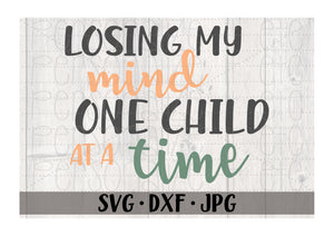 Losing My Mind One Child At A Time - Personalize It Etc