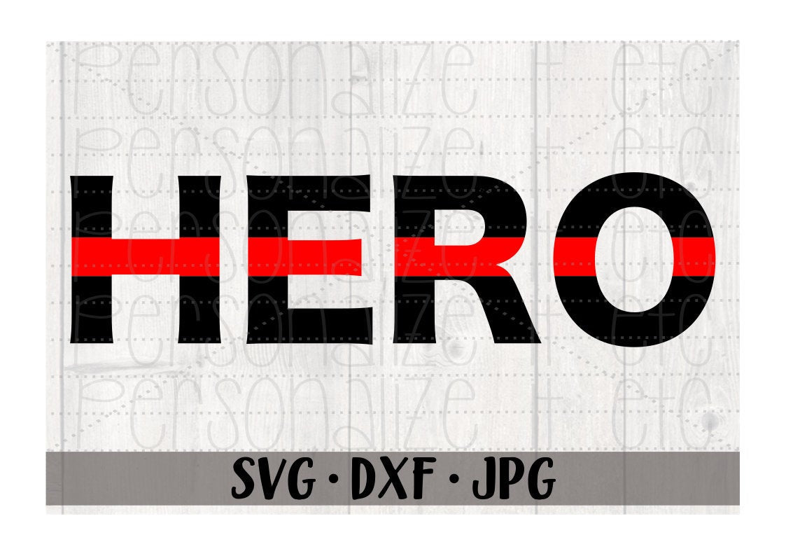 Red Line Hero - Personalize It Etc